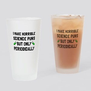 Science Puns Periodically Drinking Glass