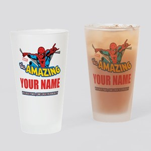 The Amazing Spider-man Personalized Drinking Glass