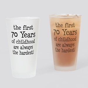 70 Years Childhood Drinking Glass