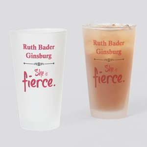 Ruth Bader Ginsburg is fierce Drinking Glass