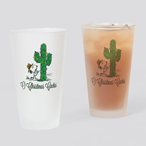 O Christmas Cactus Drinking Glass
