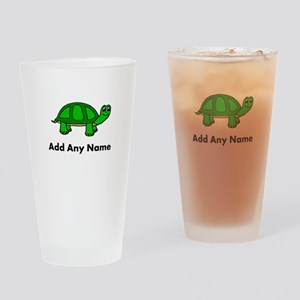 Turtle Design - Add Your Name! Drinking Glass