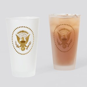 Gold Presidential Seal Drinking Glass