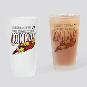 Personalized Invincible Iron Man Drinking Glass