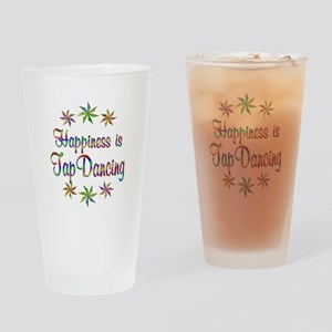 Happiness is Tap Dancing Drinking Glass