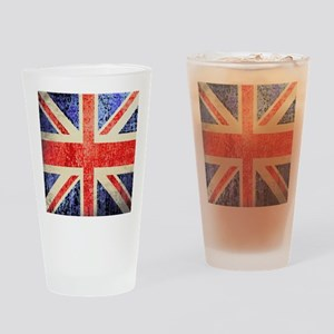 Grungy UK flag Drinking Glass
