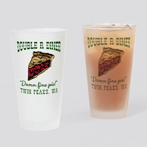 Twin Peaks Cherry Pie Diner Drinking Glass
