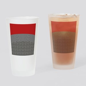 Red Pattern Drinking Glass