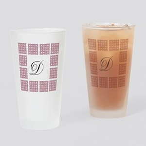 Cute Patterned Monogram Drinking Glass