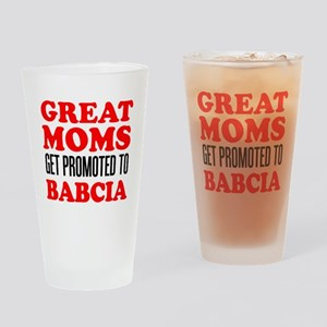 Promoted To Babcia Drinking Glass