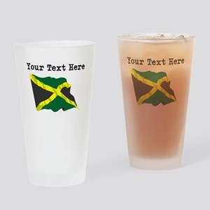 Custom Jamaica Flag Drinking Glass