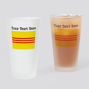 Custom Old South Vietnam Flag Drinking Glass