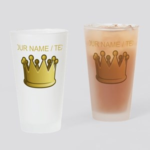 Custom Crown Drinking Glass