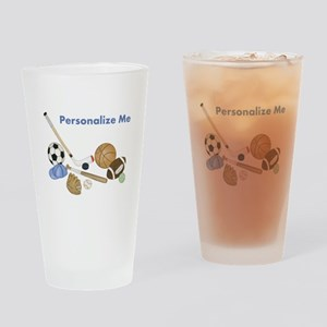 Personalized Sports Drinking Glass