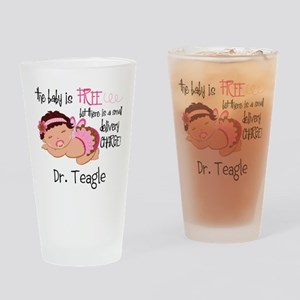 Personalized Funny Gynecologists Drinking Glass