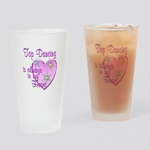 Tap Dancing Heart Drinking Glass