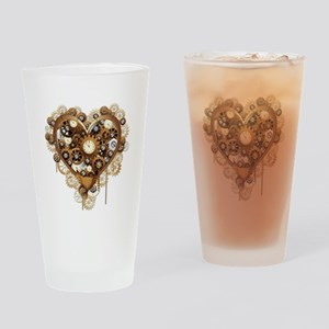 Steampunk Heart Love Drinking Glass