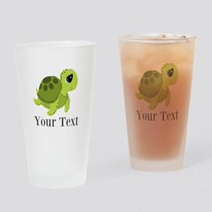 Personalizable Sea Turtle Drinking Glass