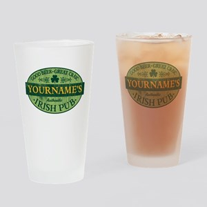 Custom Irish Pub Vintage Drinking Glass
