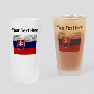 Distressed Slovakia Flag (Custom) Drinking Glass