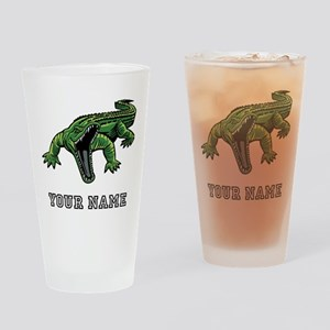 Mean Alligator (Custom) Drinking Glass