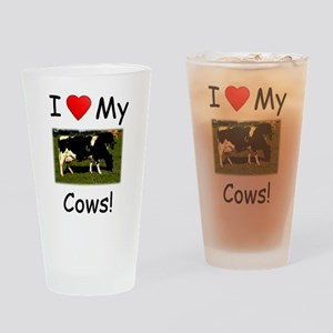 Love My Cows Drinking Glass