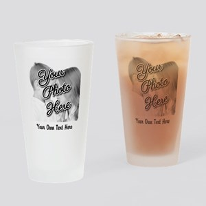 CUSTOM Photo and Caption Drinking Glass