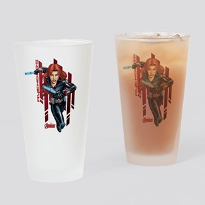 The Avengers Black Widow: Running Drinking Glass