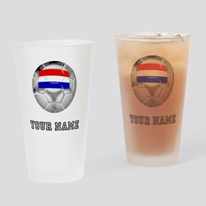 Netherlands Soccer Ball (Custom) Drinking Glass