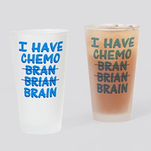Funny Cancer Chemo Bran Drinking Glass