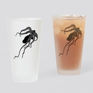 Vintage Octopus in Black Drinking Glass