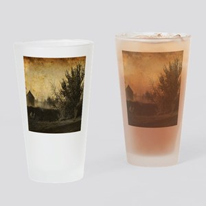rustic Rural farm landscape Drinking Glass