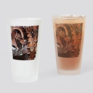 rustic Mechanical Gears steampunk  Drinking Glass