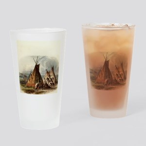 Assiniboin Native Skin Lodge Drinking Glass