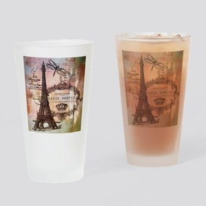 Eiffel tower collage Drinking Glass