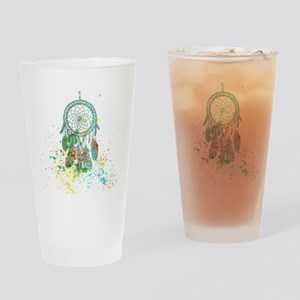 Dreamcatcher splatter Drinking Glass