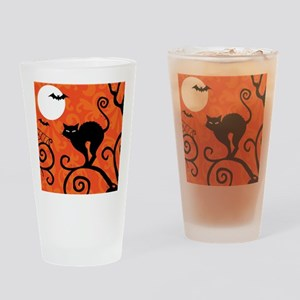 Halloween Cat Drinking Glass