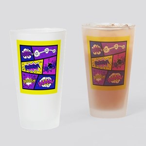 Colorful Comic Book Panels Drinking Glass