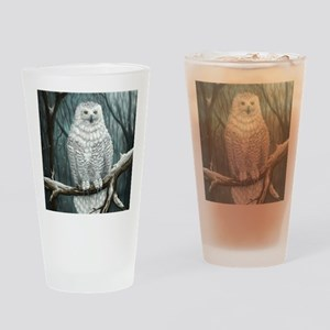 snowy owl Drinking Glass