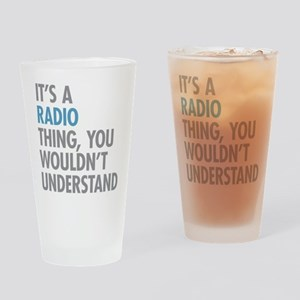 Radio Thing Drinking Glass