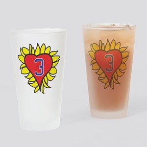 One Tree Hill Flaming Heart Drinking Glass