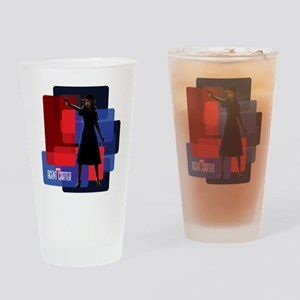 Agent Carter Squares Drinking Glass