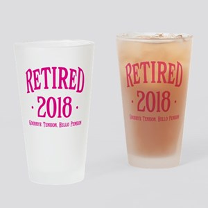 Retired 2018 Drinking Glass