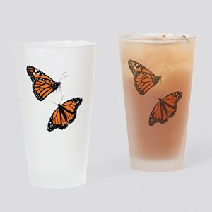 Pair of Monarch Butterflies Drinking Glass