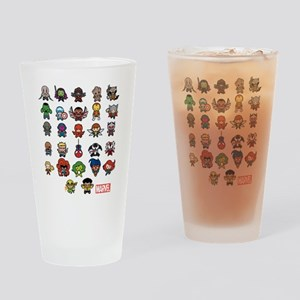 Marvel Kawaii Heroes Drinking Glass