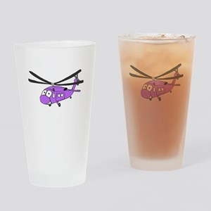 UH-60 Purple Drinking Glass