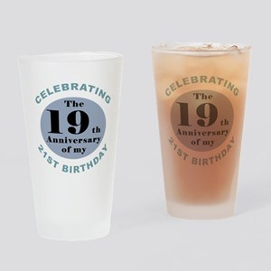 Funny 40th Birthday Drinking Glass
