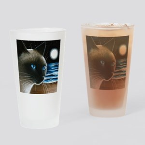 cat 396 siamese Drinking Glass