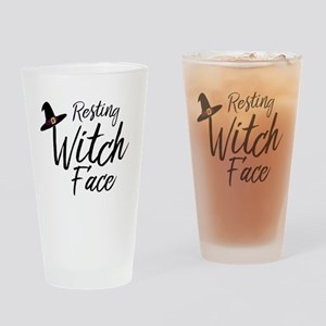 Witch Face Drinking Glass