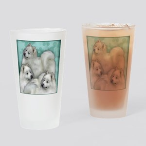 Samoyed Dogs Drinking Glass
